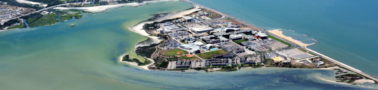 aerial photography of texas A&M university corpus christi campus